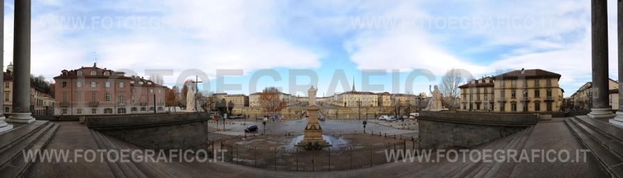 Torino, Piazza Vittorio Veneto dal sagrato della Gran Madre