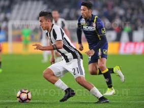 TORINO, ITALIA 8 APRILE 2017 - JUVENTUS STADIUM Campionato Serie A Tim 2016/2017 31a giornata - JUVENTUS vs. CHIEVO NELLA FOTO: Paulo Dybala in azione