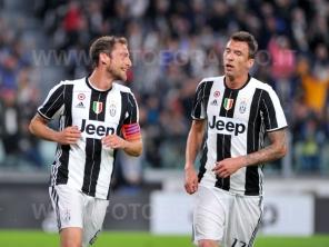 TORINO, ITALIA 23 APRILE 2017 - JUVENTUS STADIUM Campionato Serie A Tim 2016/2017 33a giornata - JUVENTUS vs. GENOA NELLA FOTO: l'esultanza di Marchisio
