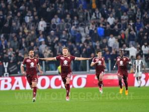 TORINO, ITALIA 6 MAGGIO 2017 - JUVENTUS STADIUM Campionato Serie A Tim 2016/2017 35a giornata - JUVENTUS vs. TORINO NELLA FOTO: l'esultanza di Ljiajic