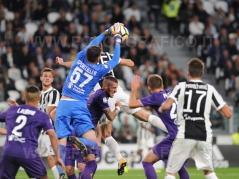 TORINO, ITALIA 20 settembre 2017 - ALLIANZ STADIUM Campionato Serie A Tim 2017/2018 4a giornata - Juventus vs. Fiorentina NELLA FOTO: uscita alta di Sportiello