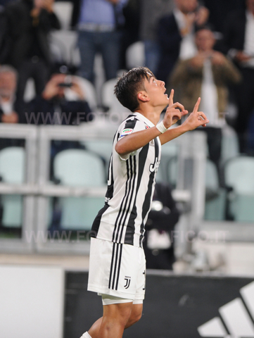 September 23, 2017 in Turin - Allianz Stadium Soccer match Juventus F.C. vs F.C. TORINO In picture: Paulo Dybala exults