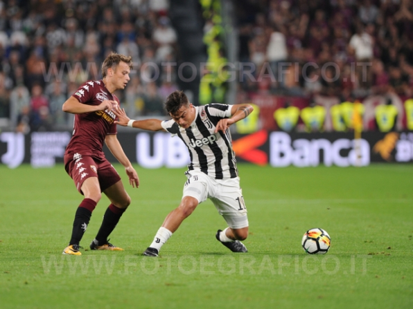 September 23, 2017 in Turin - Allianz Stadium Soccer match Juventus F.C. vs F.C. TORINO In picture: Paulo Dybala