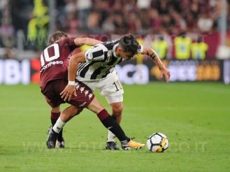 September 23, 2017 in Turin - Allianz Stadium Soccer match Juventus F.C. vs F.C. TORINO In picture: Dybala vs Liaijc