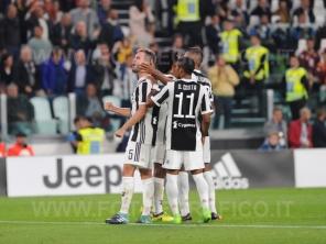 September 23, 2017 in Turin - Allianz Stadium Soccer match Juventus F.C. vs F.C. TORINO In picture: Miralem Pjanić exults