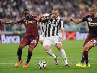 September 23, 2017 in Turin - Allianz Stadium Soccer match Juventus F.C. vs F.C. TORINO In picture: Gonzalo Higuain